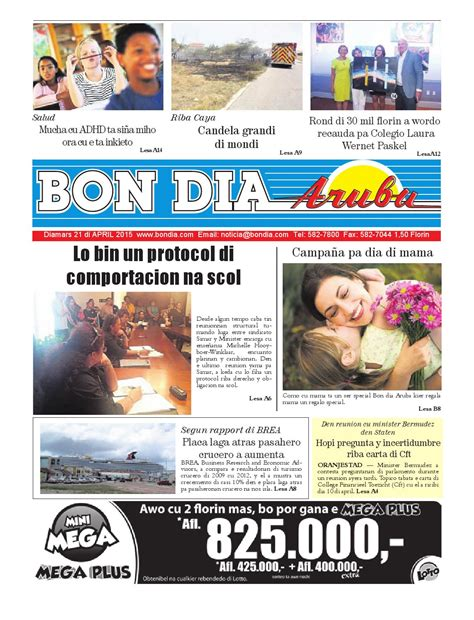 april 2015 page 2 of 3 tomatoes for cucumbers bda21april2015 by bon dia aruba issuu