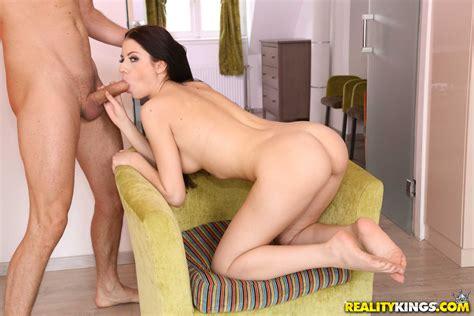 Beautiful Italian Brunette Is Sucking Hard Cock Photos