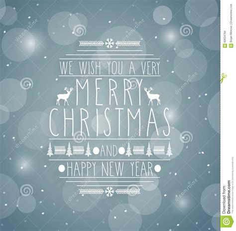 merry christmas retro abstract design greeting cardhandwritten text happy  year message