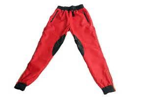 red black leather blk trim joggers coke boys wear