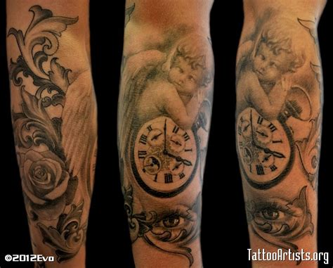 cherub angel tattoos cherub sleeve quotes