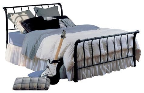 metal sleigh bed hillsdale janis metal sleigh bed in black full