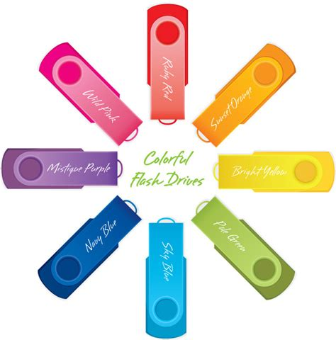 Colorful Usb Flash Drives by Kotakitam Giveaway 03 Vector Drawing Of Colorful Usb