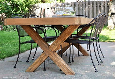 diy outdoor table woodworking diy outdoor table