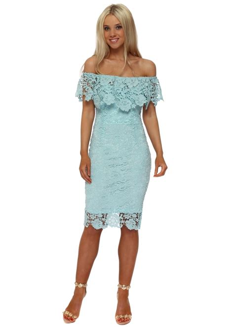 12739 bardot lace dress paper dolls aqua lace pencil dress