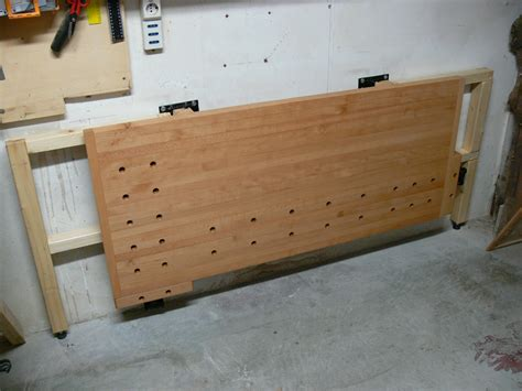 folding wall mounted bench tommy s wall mounted folding workbench the wood whisperer