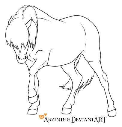 welsh pony coloring pages welsh pony lineart by abzinthe on deviantart