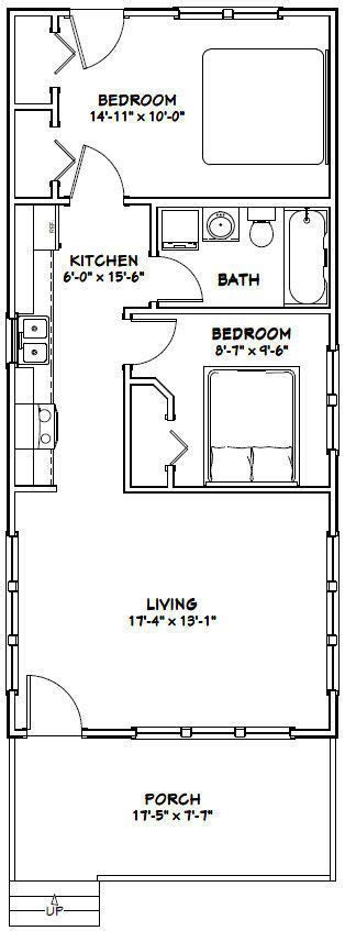 tiny house floor plans pdf 18x40 tiny house 720 sqft pdf floor plan model 3c