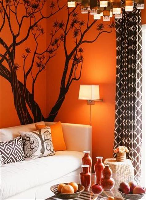 brown and orange home decor carrie s design musings tantalizing tangerine tango