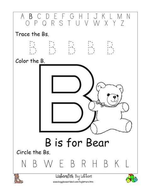 Letter B Worksheets by Alphabet Worksheet Big Letter B Doc Ed Letters And