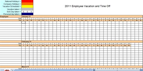 monthly staff schedule template excel employee attendance tracker
