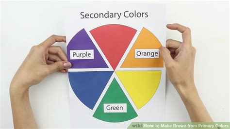 what primary colors make brown 6 easy ways to make brown from primary colors wikihow
