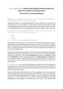 press release schedule template world mental health week press release template
