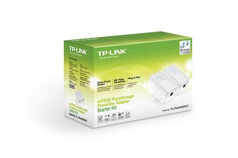 Tplink Tl Pa4010pkit Power Line Adapter Av500 tp link tl pa4010pkit av500 passthrough powerline adapter starter kit ebay