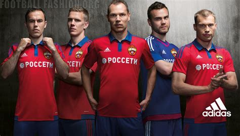 Jersey Cska Moscow Away cska moscow 2015 16 adidas home and away kits football