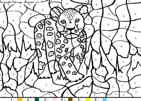 Coloriage Numerote Animaux