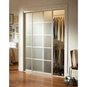 interior sliding doors home depot contractors wardrobe silhouette 5 lite aluminum brushed nickel interior bypass sliding door si5