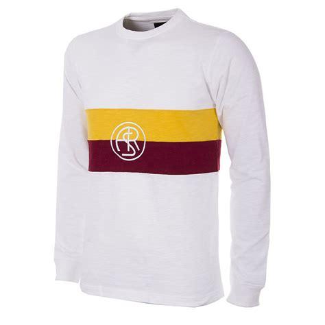As Roma T Shirt as roma 1944 45 copa away retro football shirt