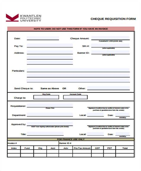 requisition form template free 43 free requisition forms