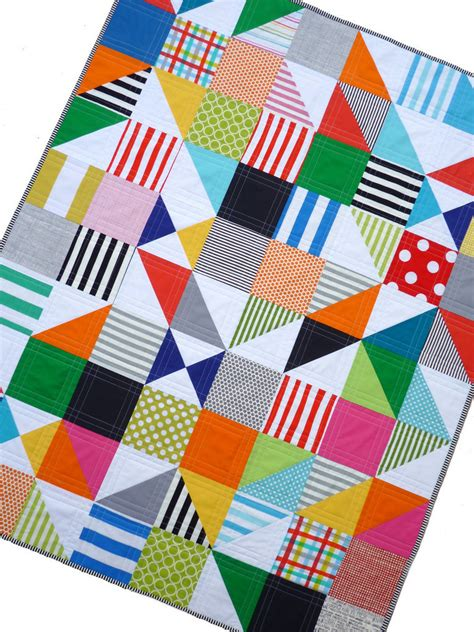 Contemporary Patchwork Quilts - modern and colorful patchwork quilt the mystery puzzle
