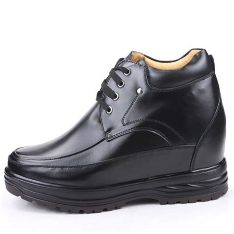 elevator shoes black shoes for increasing height 13cm 5