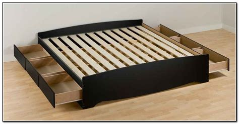 Build Platform Bed With Drawers by How To Build A Platform Bed Frame