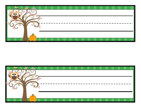 printable autumn name tags learning with a happy heart free fall themed owl name tags
