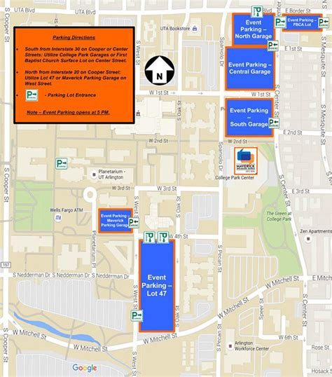 university of texas at arlington map maverick speakers series maps and parking information the university of texas at arlington