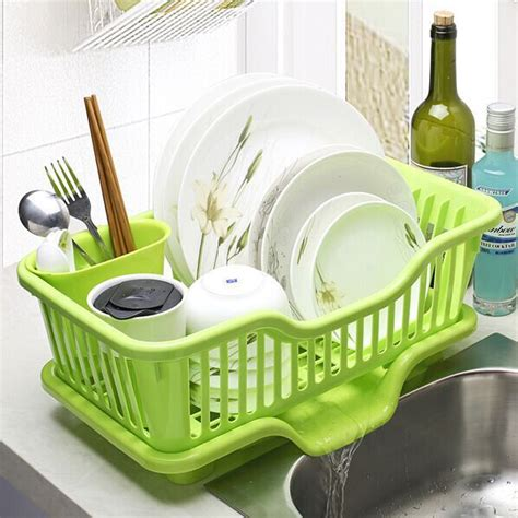 kitchen sink drain rack the water drip bowls storage