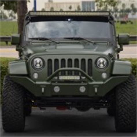 Matte Green Jeep Wrangler Spotlight Custom Matte Green Jeep Wrangler