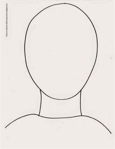 headshot template back of outline www imgkid the image kid has it