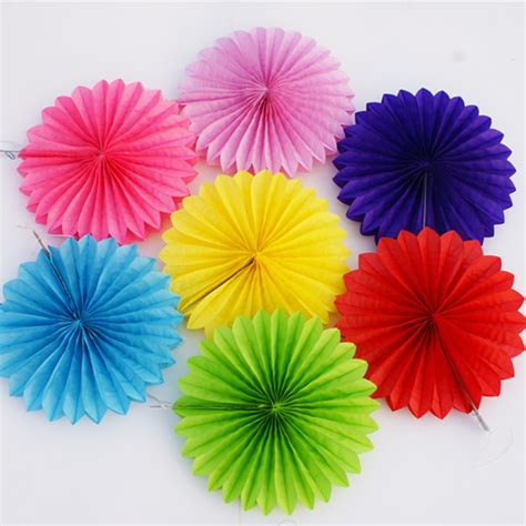 How To Make Paper Fan Flowers - decorative crafts 30cm 1pcs flower origami paper fan