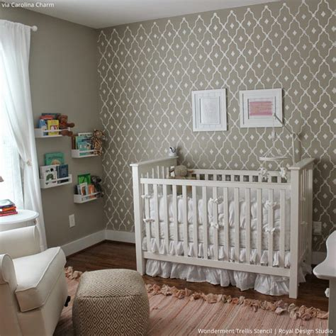 pattern accent wall ideas 5 baby room d 233 cor accent walls ideas with nursery stencils