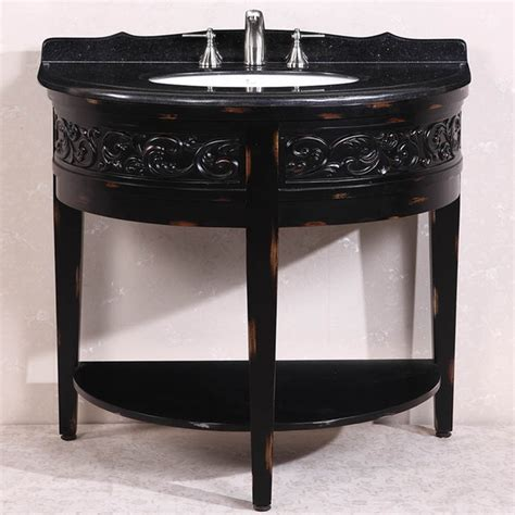 41 Inch Bathroom Vanity Antique 41 Inch Black Granite Top Single Sink Bathroom Vanity
