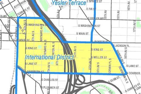 seattle map international district organiser voyage aux etats unis en seattle