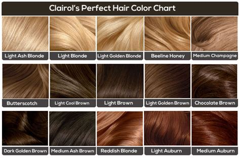 with hair different colour to pubic hair clairol hair color chart medium hair styles ideas 44948