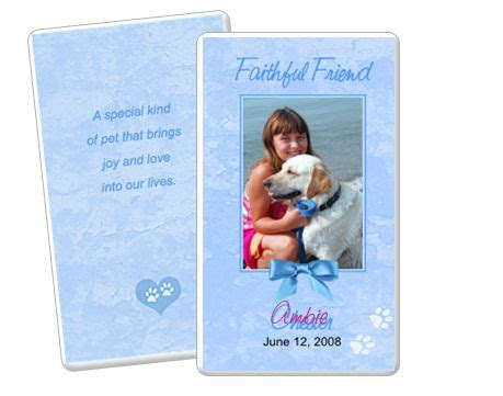 memorial card template publisher 19 best images about pet memorials templates on