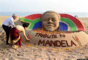 the world remembers nelson mandela in series of stunning