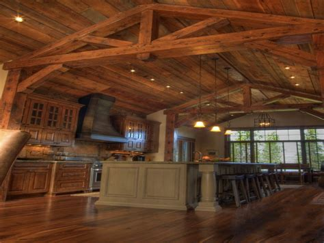 Ranch Log Home Floor Plans new model homes kitchen log cabin kitchen ceiling ideas