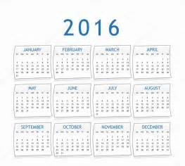 Calendã Sazonal Calendario Para El A 241 O 2016 Foto De Stock 169 Kerdazz7