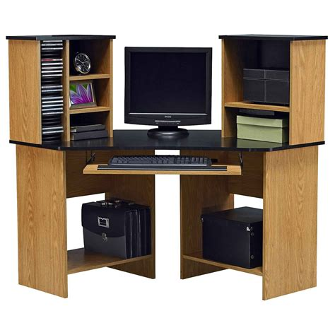 Wood Corner Desks For Home Computer In Desk To Enchance Your Work
