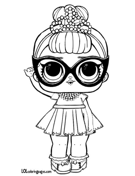 it baby coloring page lol doll coloring pages