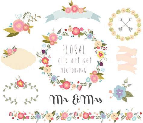 Wedding Borders Vector by Floral Clipart Wedding Clipartvector Png Digital Wreath