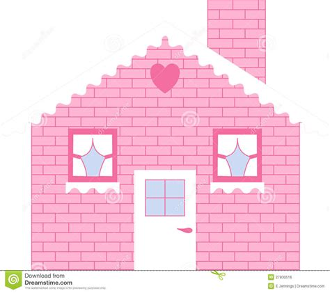 3d Houses For Sale pink brick doll house royalty free stock image image
