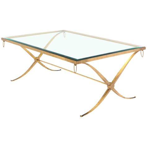 gold table l base heavy gold gilded iron x base decorator coffee table with