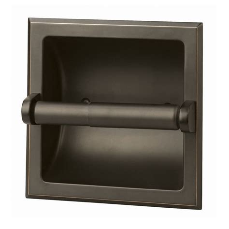 recessed toilet paper shop design house millbridge rubbed bronze recessed