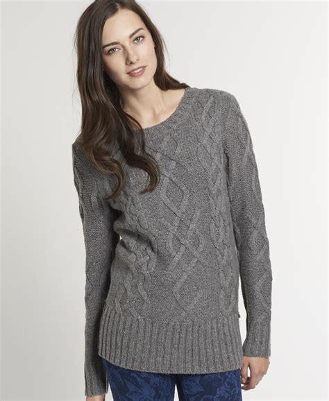 Sweater Superdry New Womens Superdry Boston Sweater Moody Grey Kdd Ebay