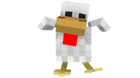 c4d character template rig minecraft chicken 3d c4d