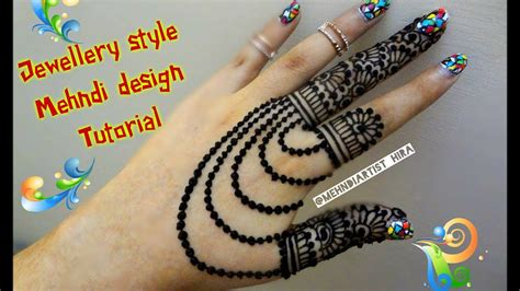 beautiful new stylish jewellery style henna mehndi designs