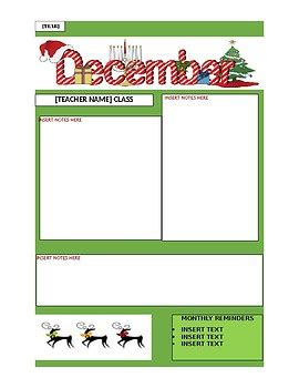 december newsletter template december newsletter template by leeanne radish tpt